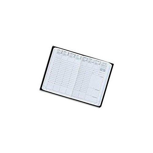 Exdi calendario semana para ver diario negro Calypso 10x15cm 1S/2P 2016