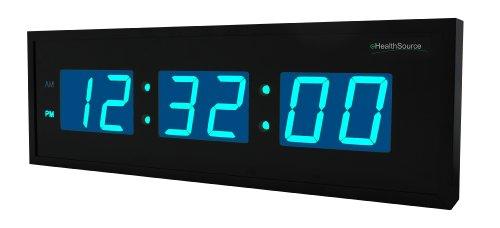 Ehealthsource Huge Large Big Oversized Digital Led Clock (30 Inch, Blue)