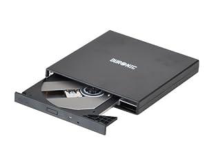 Duronic USB External Slim CD-ROM Drive x24 (Black)