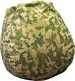 Lime Green Faux Suede Urban Camo Bean Bag Chair