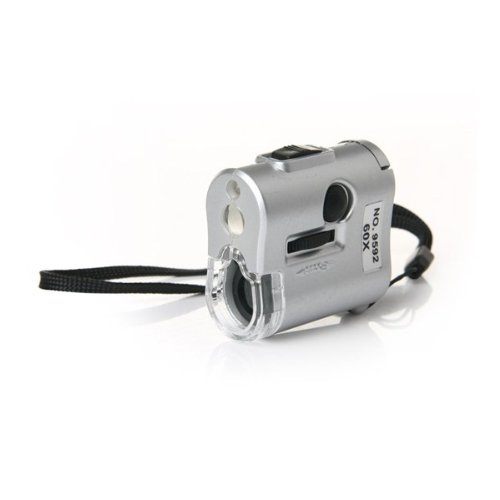 60X Mini Microscope (Silver) With Ultraviolet Currency Detection Function