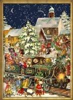 Victorian Christmas Train German Advent Calendar: Snow covered Scene Choo-Choo