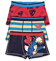 3 Pack Cotton Rich Superman™ Trunks