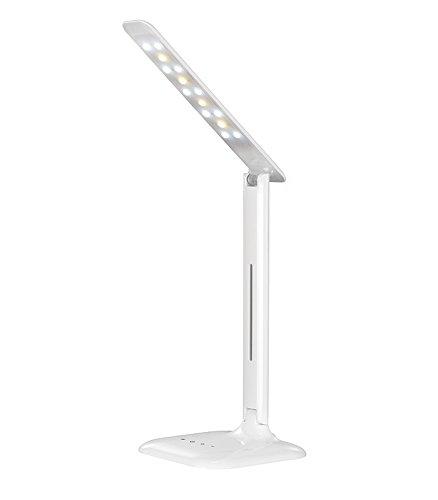 Cstlamp® Eye-Protection Folding Led Desk Table Lamp, 3 Light Mode-Studying, Reading, Relaxation, 5-Level Dimmable Brightness Am0007