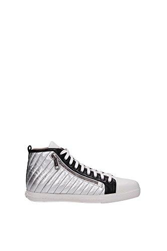 Sneakers Miu Miu Donna Pelle Argento 5T9043ARGENTOBIANCO Argento 37EU