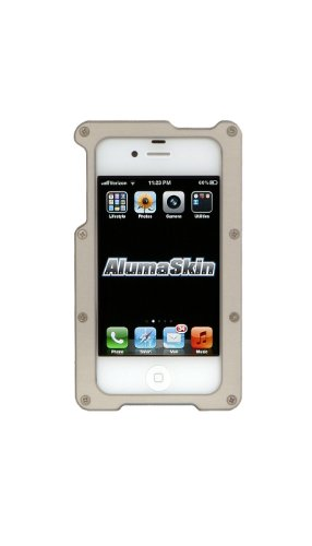 AlumaSkin Abee Style Aluminum Case for iPhone 4 & 4S – 1 Pack – Retail Packaging – Silver special
