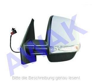 Fiat Doblo II 10- Aussenspiegel (links=Fahrerseite) el.betätigt, beheizbar, Gehäuse-grundiert, mit Blinker, twin Glas-convex [E] [H] [P] [CV] [LMP] [L]