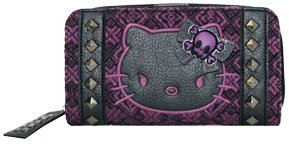 Loungefly Angry Hello Kitty Tweed Deluxe Checkbook Wallet