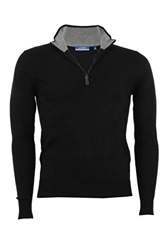 Pullover mezza zip Aigle nero, M