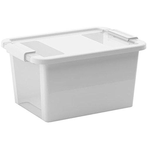 Kis 8452000 0594 01 Bi Box-Scatola portaoggetti, in plastica, colore: grigio/trasparente, 11 L