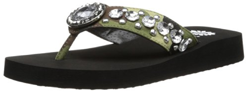 Yellow Box Women'S Hash Flip Flop,Camouflage,6 M Us front-897339