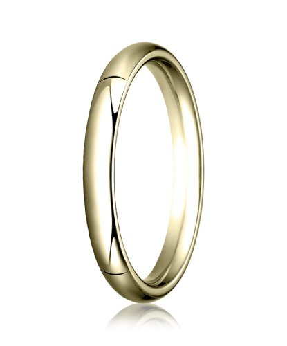 14K Yellow Gold, 3.0mm High Dome Heavy Comfort-Fit Ring (sz 14)