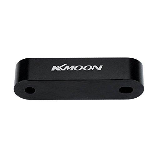 KKmoon 2 x KKMOON Billet Aluminium Motorhaube Riser Abstandhalter Swap Tauschen Air Flow-Vent-Steckkarten (Schwarz)