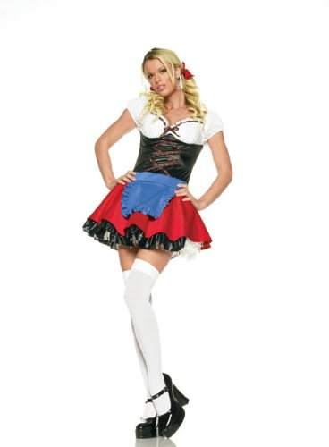 Sexy St. Pauli Girl German Beer Maiden Fraulein Girl Halloween Costume