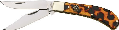 Frost Cutlery & Knives Cck528Its Canyon Creek Series - Saddlehorn Pocket Knife With Imitation Tortoise Shell Composition Handles