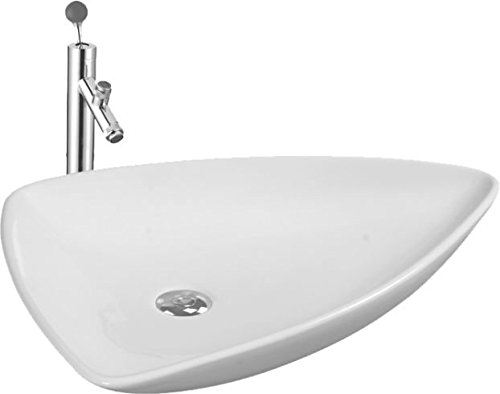 Elegant Casa Counter Top Wash Basin EC-408White