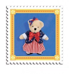 Muffy Bear Red White & Blue Charm by North American Bear Co. (5907)