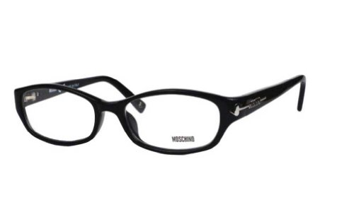 Moschino Moschino Women's MO 074 Black (01) Frame Clear Lens Full Rim Eyeglasses 52mm