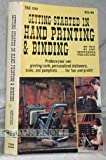 img - for Getting Started in Hand Printing and Binding book / textbook / text book