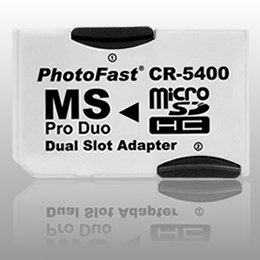 PhotoFast CR-5400 microSDHC対応 PRO Duo変換アダプター