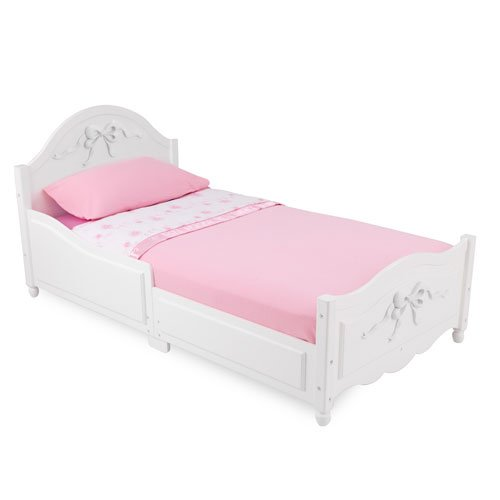 white finish tiffany style kids toddler cot bed frame unique baby bedding - Cheap Toddler Bed Frames