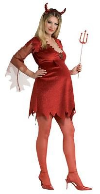 Halloween Costumes For Pregnant Women Ideas Maternity Devil Lady Sexy Womens Costume Adult Halloween Outfit ? Maternity One Size Best deal