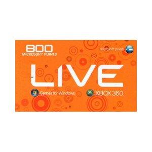 800 xbox live points