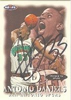 Antonio Daniels San Antonio Spurs 1998 Hoops Autographed Hand Signed Trading Card -... by Hall+of+Fame+Memorabilia