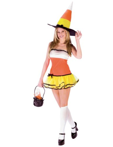 Adult-Costume Candy Corn Treat Md-Lg 10-14 Halloween Costume