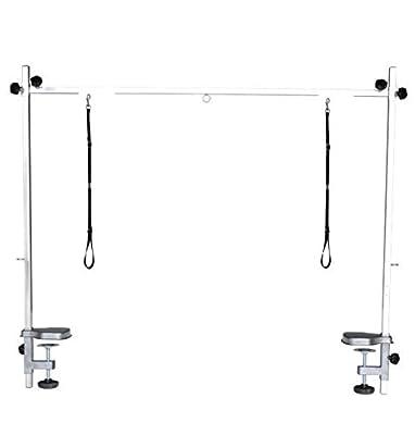 Pedigroom Stainless Steel Dog Grooming H Bar Arm - 2 Nooses Fits table 110-120cm