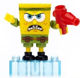 Mega Bloks Spongebob Squarepants The Spongebob Movie Sponge Out Of Water Series 2 Minifigures Post-Apocalypse SpongeBob Common Minifigure - 1