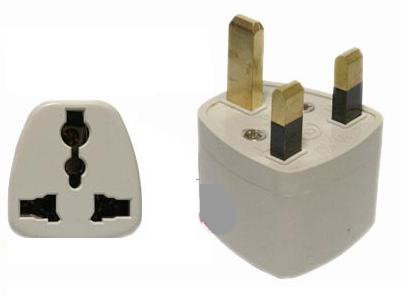 3 pin UK to Universal (US/EU/JAPAN) travel adapter for items bought abroad
