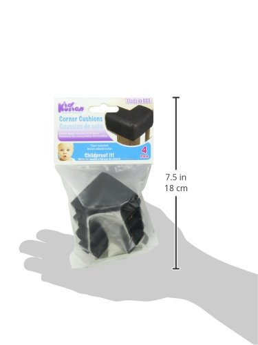 Kidkusion 4 Pack Small Toddler Corner Kushions, Black
