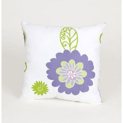 Sweet Potato Flowers On White Ground Pillow, Lulu front-635819