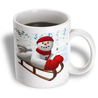 Mug_30540_2 Bk Vintage Snowmen - Sledding Snowman - Mugs - 15Oz Mug