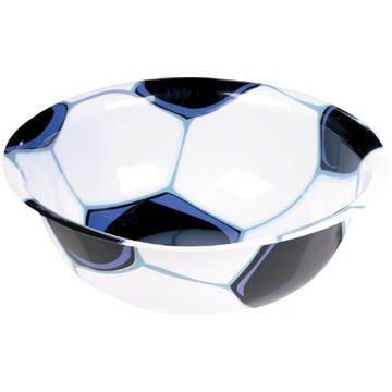 "Amscan Mens Soccer 12"" Plastic Bowl Black Medium"