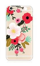iPhone 5 / 5S / Se Compatible, Deco Fairy Ultra Slim Translucent Silicone Clear Case Gel Cover for Apple(Anemone Clear iPhone 5 / 5S / Se) (Rifle Paper Co Iphone 5 Case compare prices)