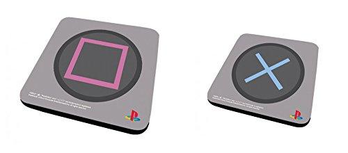 Set Di 2 Sottobicchieri: Playstation - Square + X (9x9 cm)