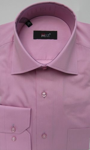 MUGA mens shirts for Casual and Formal, Dark Rose, Size L