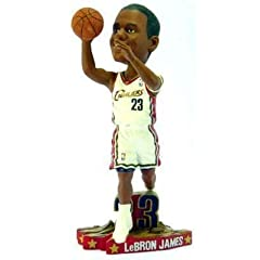 LeBron James Cleveland Cavaliers Home #23 Action Pose SHOOTING Bobble Head rookie...