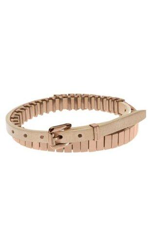 Michael Kors Mkj2212 Rose Gold Double-Wrap Leather Bracelet