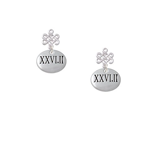 Marathon Roman Numeral Infinity Knot Earrings