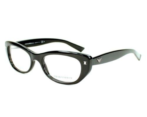 White Frame Armani Glasses : Emporio Armani Womens 3008 Black / Variegated White Frame ...