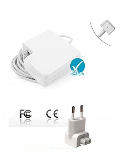 Alimentatore 45W MagSafe 2 Power Adapter / Charger per Apple MacBook Air A1435 A1466 A1465 A1436 con Retina Display - Spina di rete inclusa - Sostituzione Compatibile Apple MagSafe2 Air