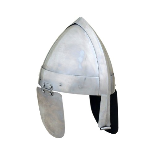 Armor Venue Viking- Norman Single Reinforce Nasal Helmet - One Size - Metallic Armour