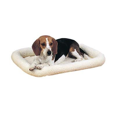 Slumber Pet Sherpa Crate Dog Bed, X-Small, Natural Beige