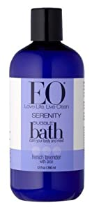 EO Serenity Bubble Bath, French Lavender with Aloe, 12-Ounce Bottles, (Pack of 3)