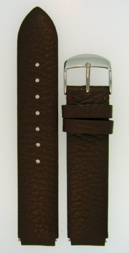 Fits Philip Stein Size 1 18mm Dark Chocolate Brown Calf Leather Watchband with Spring Bars By JP Leatherworks