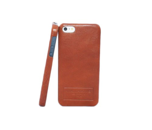 Special Sale Waxhaws Molded iPhone 5 Case made with Vegetable-Tanned Belting Leather (Whiskey)