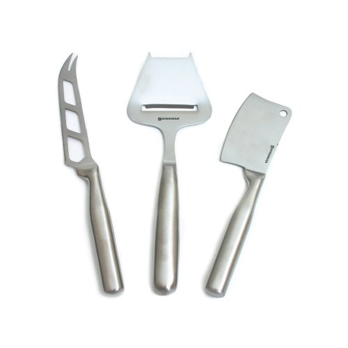 Swissmar Stainless Steel 3-Piece Cheese Knife Set